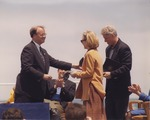 Sam Farr on Stage with Bill and Hillary Clinton at the National Oceans Conference in Monterey, California