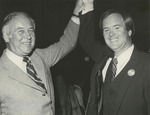 Sam Farr with his Father Fred Farr, Celebrating After Being Elected to the California State Assembly