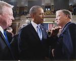 Sam Farr Speaking with Barack Obama, 2014