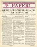 The Paper, Vol. 1 No. 1 by Monterey County AIDS Project